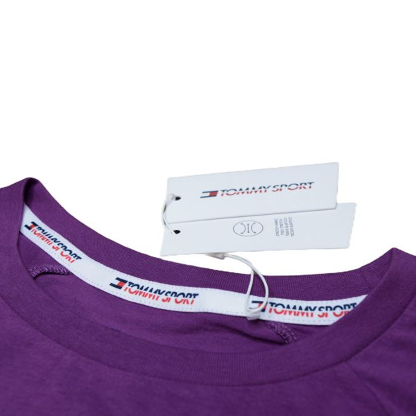 3. Stretch t-shirt with logo Violet Tommy Sport