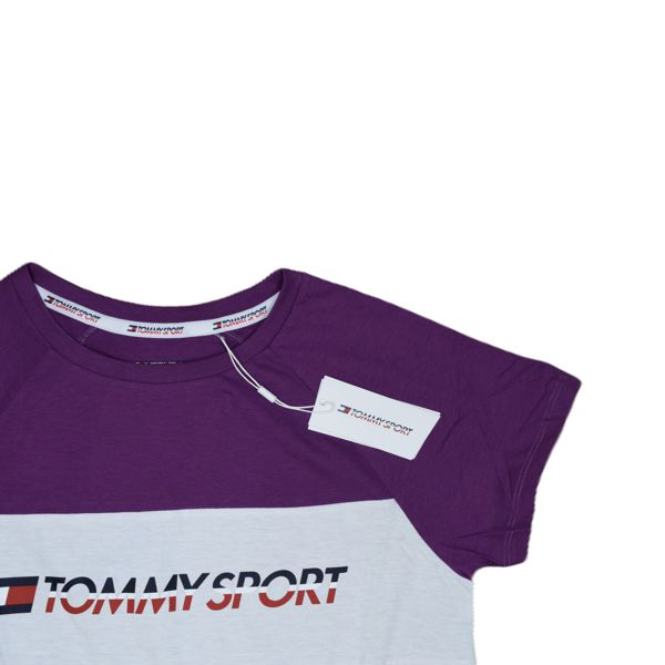 2. Stretch t-shirt with logo Violet Tommy Sport