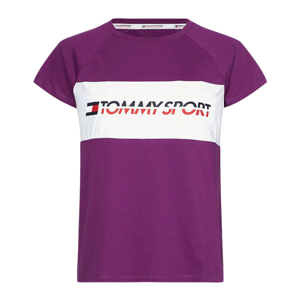 1. Stretch t-shirt with logo Violet Tommy Sport