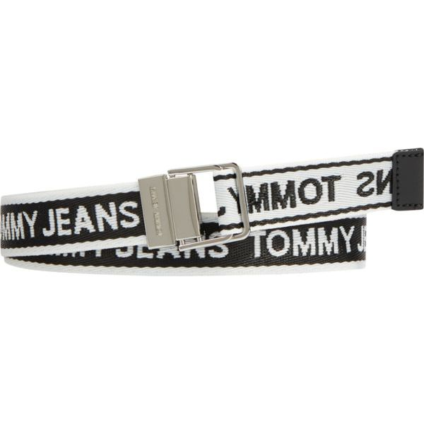 2. Fabric belt with repeated logo Black Tommy Jeans