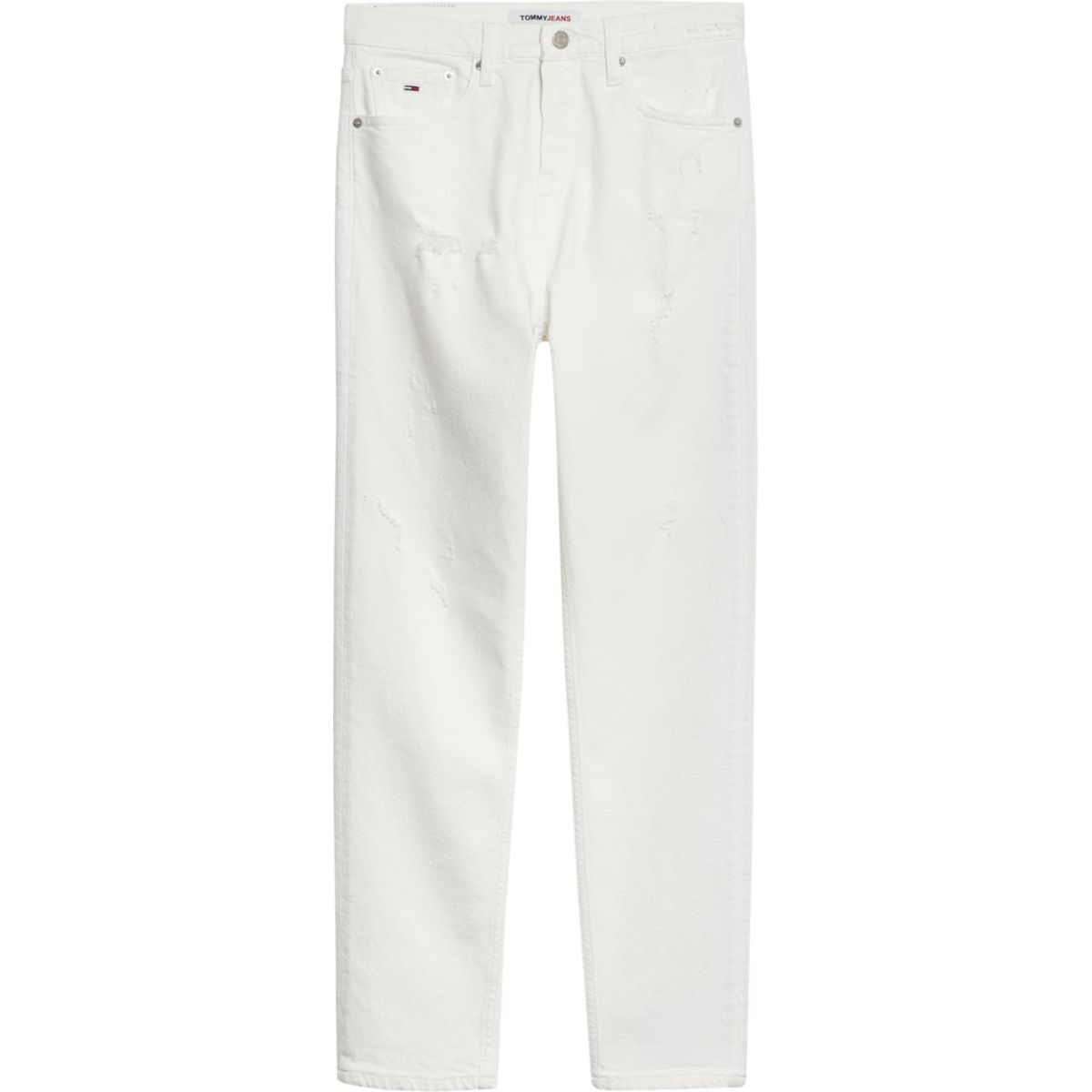 1. White high-waisted slim fit Izzy cropped jeans White Tommy Jeans