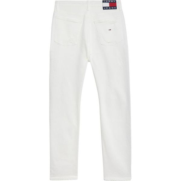 2. White high-waisted slim fit Izzy cropped jeans White Tommy Jeans